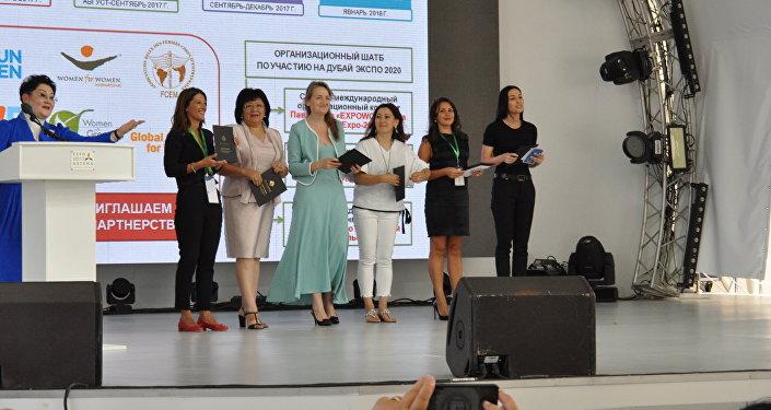 На ЭКСПО-2017 в Астане представили послов международного женского павильона EXPOWOMEN, который будет открыт на всемирной выставке Dubai EXPO-2020