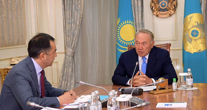 Нурсултан Назарбаев встретился с премьер-министром РК Бакытжаном Сагинтаевым