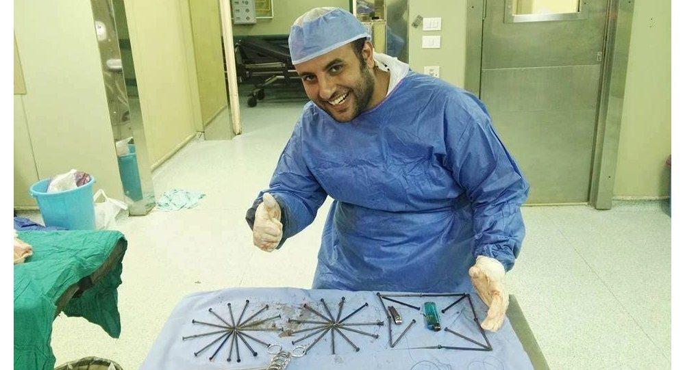 Мысырлық дәрігер науқастың ішінен 39 шеге алып шықты
