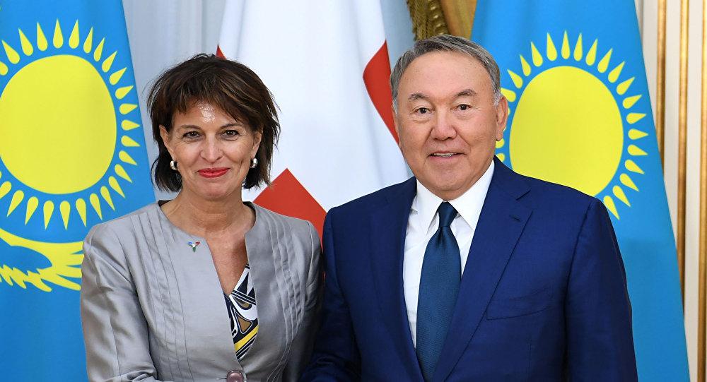 Нұрсұлтан Назарбаев Швейцария Конфедерациясының Президенті Дорис Лойтхардпен кездесті
