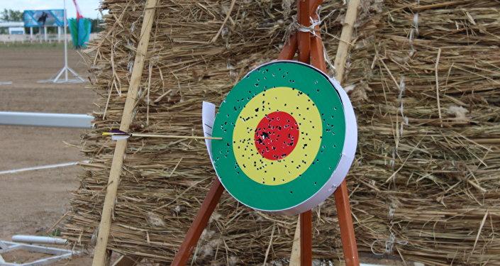 Международный турнир по жамбы ату (стрельба из лука верхом на лошади) в Астане