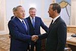 Нұрсұлтан Назарбаев пен Дмитрий Медведев