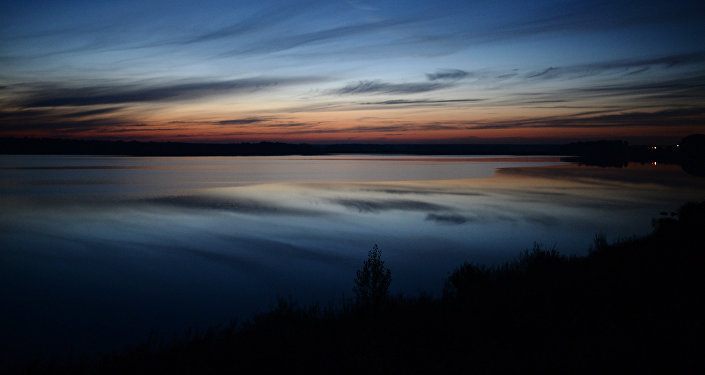 Вид на одно из озер в Новосибирской области, архивное фото