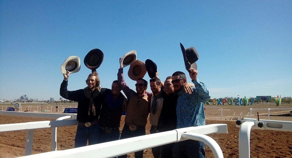 Америкалық ковбойлар көкпар тартысуға Астанаға  келді
