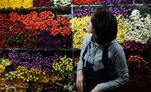 Продажа цветов, архивное фото