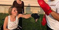 Алматинка Екатерина Парафиева, потерявшая ноги при ДТП