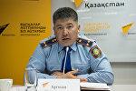 Заместитель начальника Местной полицейской службы города Астаны подполковник полиции Арман Айтыбеков