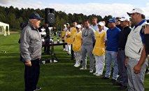 Нурсултан Назарбаев открыл гольф-клуб в Боровом