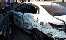 Свадебный кортеж попал в аварию в Костанае