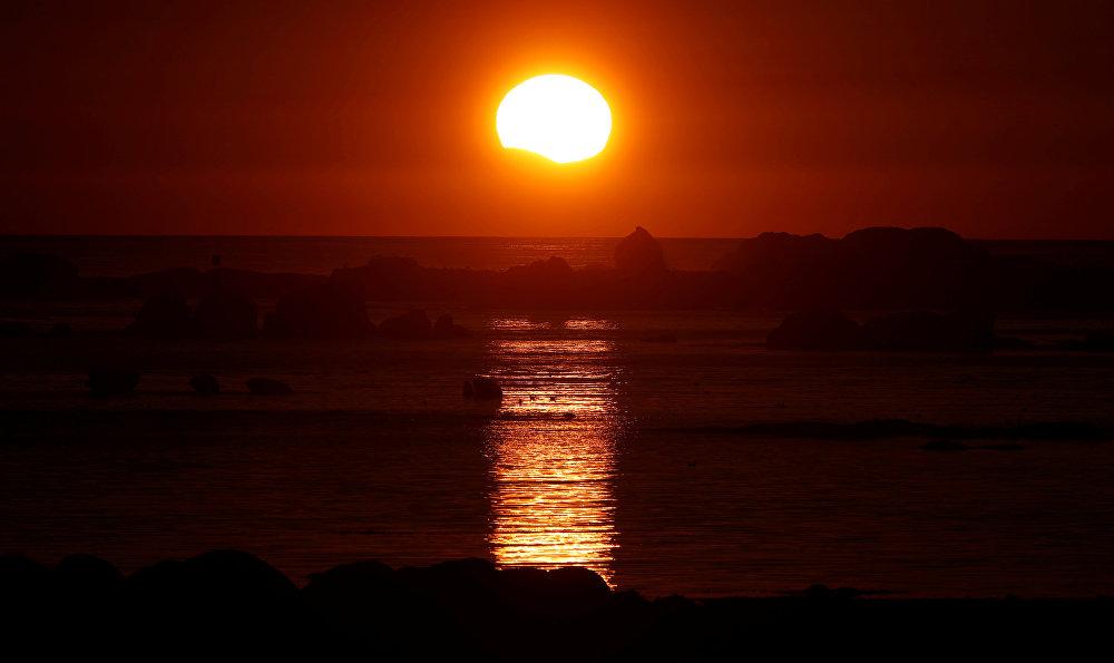 Солнечное затмение во Франции