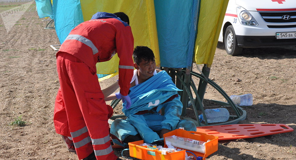 Чемпионат мира по кокпару в Астане: участник команды Турции упал с лошади и получил травмы