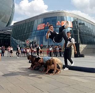 Каскадеры из Екатеринбурга показали шоу на ЭКСПО в Астане
