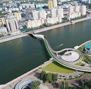 Проект нового моста через Есиль в Астане