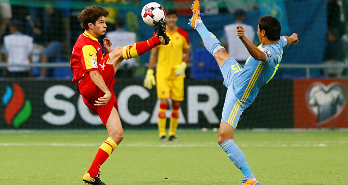 Матч Казахстан - Черногория в рамках отборочного цикла ЧМ-2018