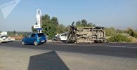 Крупная авария на трассе Бишкек-Ош