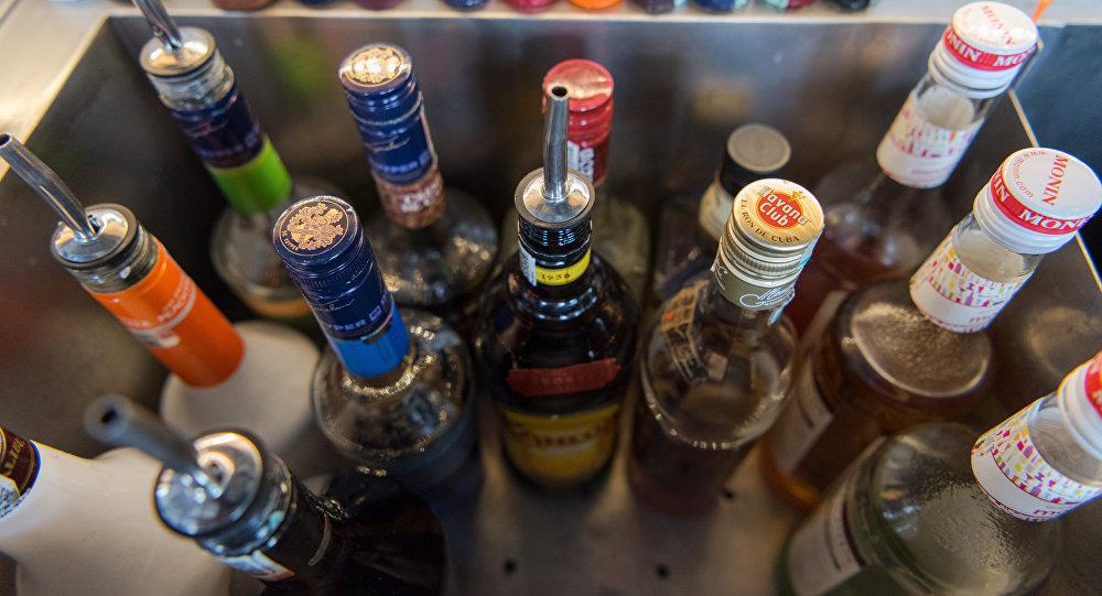Алкогольная продукция в баре