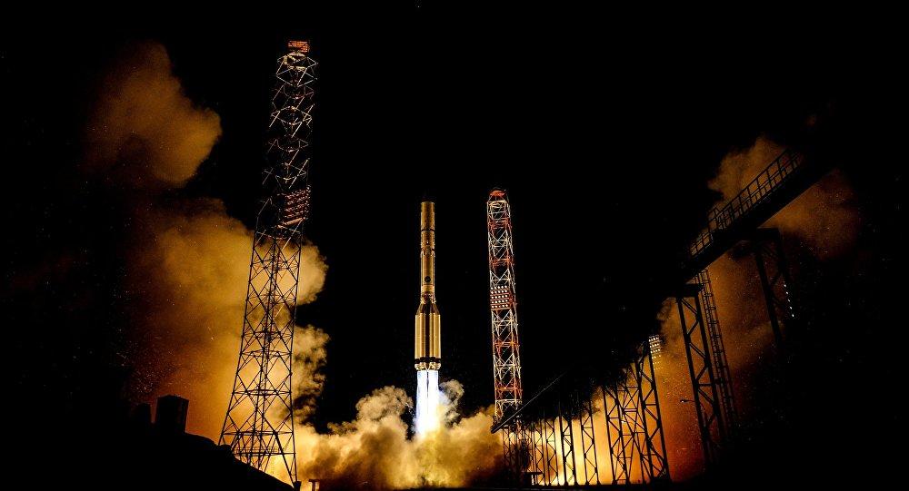 Пуск ракеты с космодрома Байконур, архивное фото