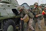 Казахстанские военные, архивное фото