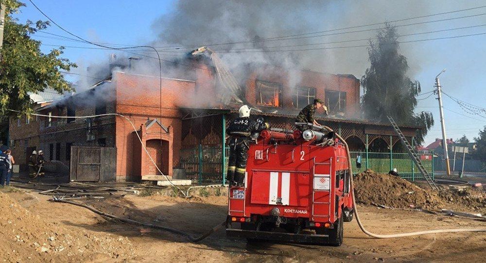 Ночной клуб сгорел в Костанае