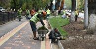 Реконструкция пешеходной зоны в Парке 28 панфиловцев, архивное фото