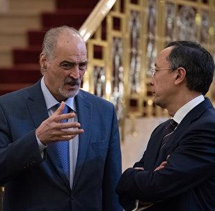 Башар Джафари (слева) и Кайрат Абдрахманов