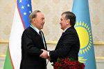 Нұрсұлтан Назарбаев пен Шавкат Мирзиеев