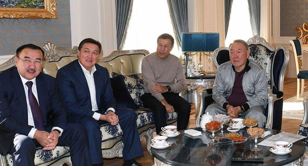 Нурсултан Назарбаев посмотрел бой Головкина против Канело, находясь с визитом в Ашхабаде