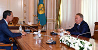 Омурбек Бабанов и Нурсултан Назарбаев