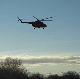 Архивное фото вертолета