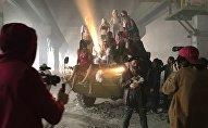 Вячеслав Юровских на съемках клипа рэперов Markul-а и Oxxxymiron–а