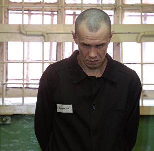 Архивное фото заключенного в колонии