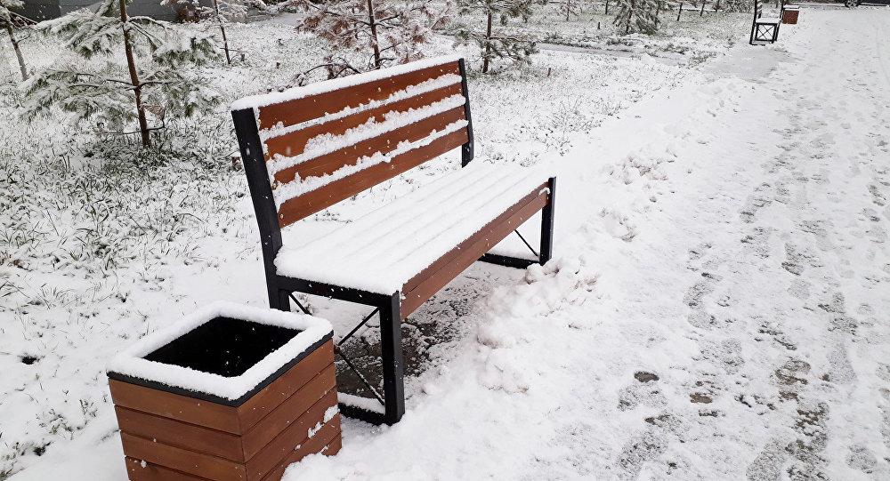 Первый снег выпал в Петропавловске