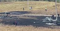 Пепелище на месте крушения Ан-28 под Алматы