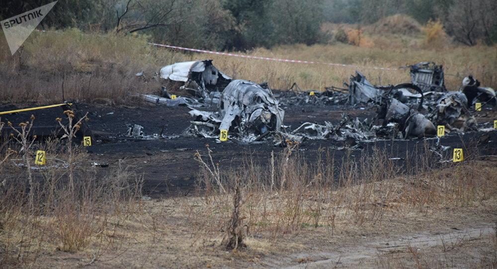 Место крушения самолета Ан-28