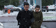 Архивное фото снегопада