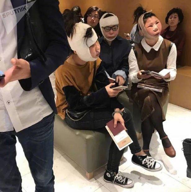 Трех гражданок Китая задержали в аэропорту Южной Кореи после пластической операции