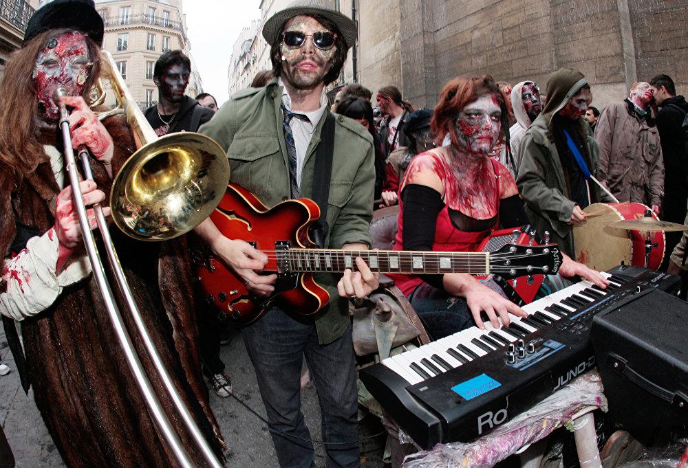 Зомби-моб в Париже