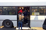 Переполненный автобус в Астане