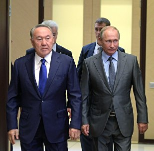 Қазақстан Перзиденті Нұрсұлтан Назарбаев пен РФ президенті Владимир Путин