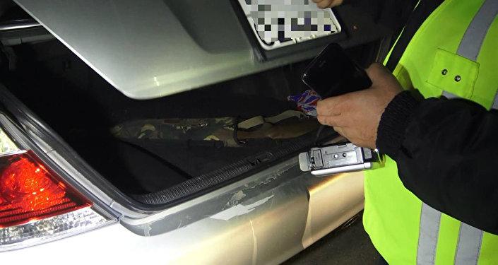 Автомобиль, в котором найдено ружье