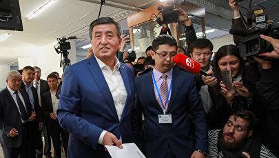 Кандидат в президенты Кыргызстана Сооронбай Жээнбеков