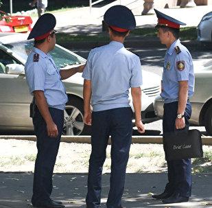 Полицейские в Алматы