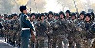 Военнослужащие Казахстана во время учений