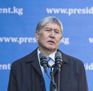 Қырғызстан президенті Алмазбек Атамбаев