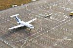 Взлетно-посадочная полоса в аэропорту Астаны