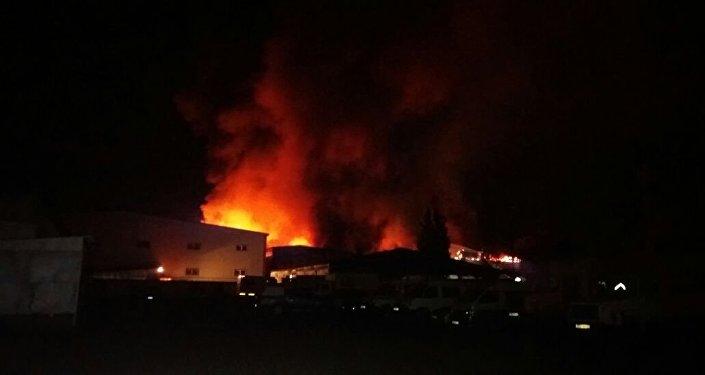 ВАлма-Ате произошел мощный пожар вофисном помещении