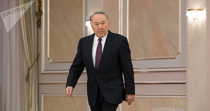 Нурсултан Назарбаев во время церемонии вручения верительных грамот