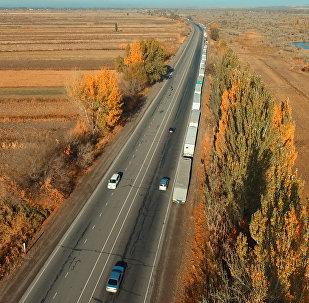 Қазақ-қырғыз шекарасындағы сегіз километрлік кептелістің видеосы жарияланды