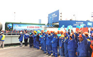 С причала казахстанского порта Курык отправлена миллионная тонна грузов в порт Баку
