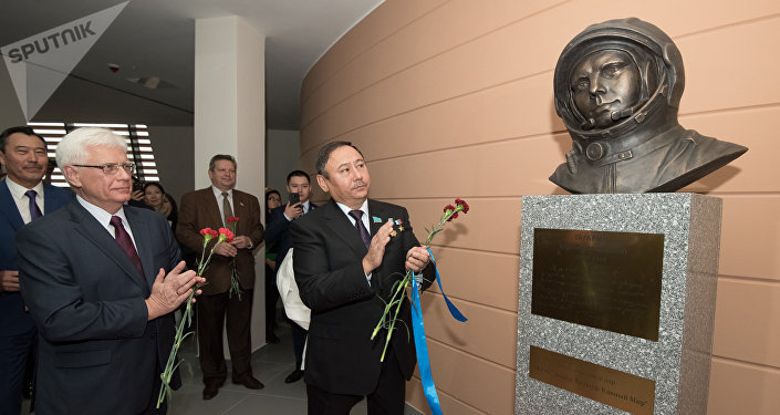 Бюст Юрия Гагарина установили вАстане